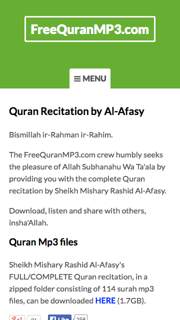 Al-Quran MP3 - Recitation by Al-Afasy