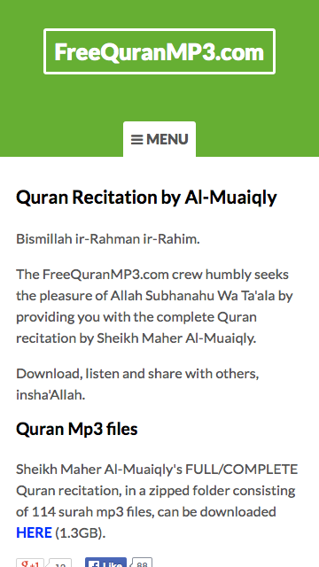 Al-Quran MP3 - Recitation by Al-Muaiqly