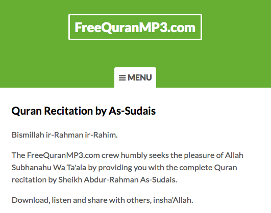 Al-Quran MP3 - Recitation by As-Sudais